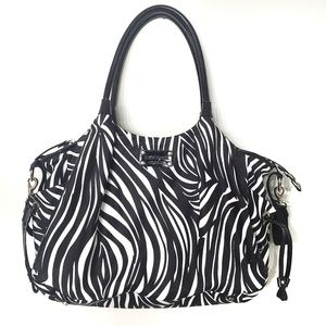 Kate Spade Black & White Stevie Nylon Baby Bag